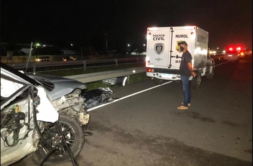 acidente santa rita - Homem morre após ter cochilado ao volante e bater em dois caminhões na BR-230