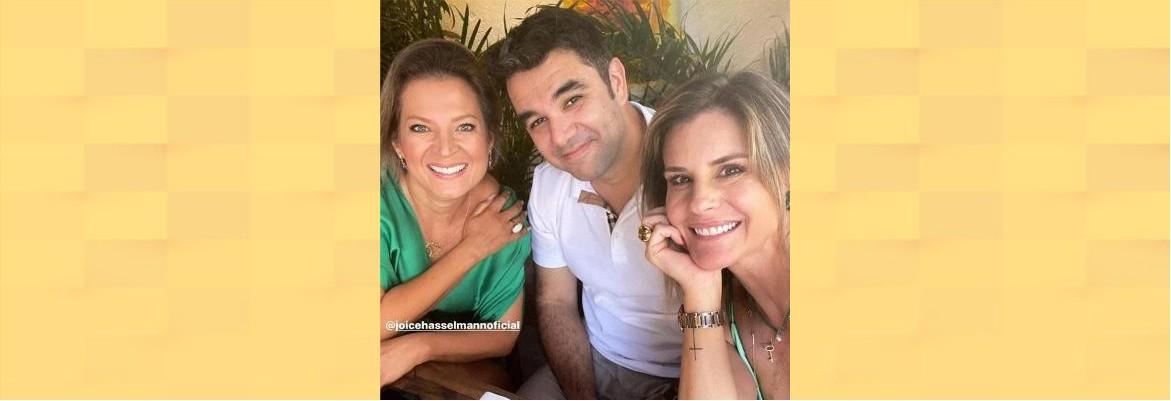 apresentadora com joyce - CRISE: Globo suspende apresentadora por foto com Joice Hasselmann