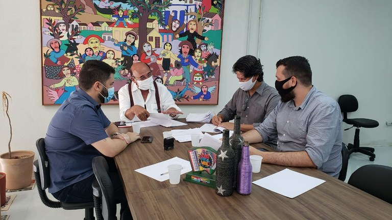assina aldir blanc - SecultPB assina primeiros contratos da Aldir Blanc