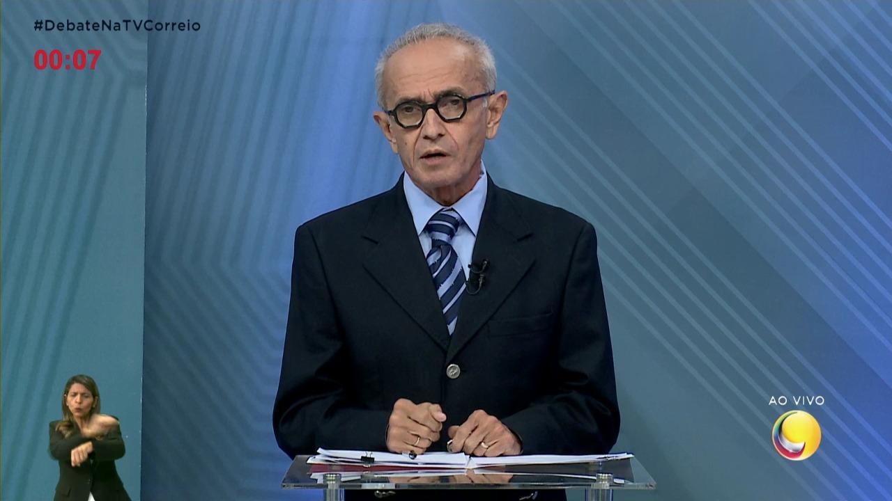 "cicero - DEBATE CORREIO - Cícero cobra Nilvan: ""Perca essa mania de falsificar as coisas, candidato"""