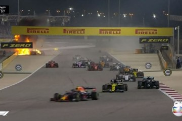 Carro quebra ao meio e pega fogo em acidente forte na F1