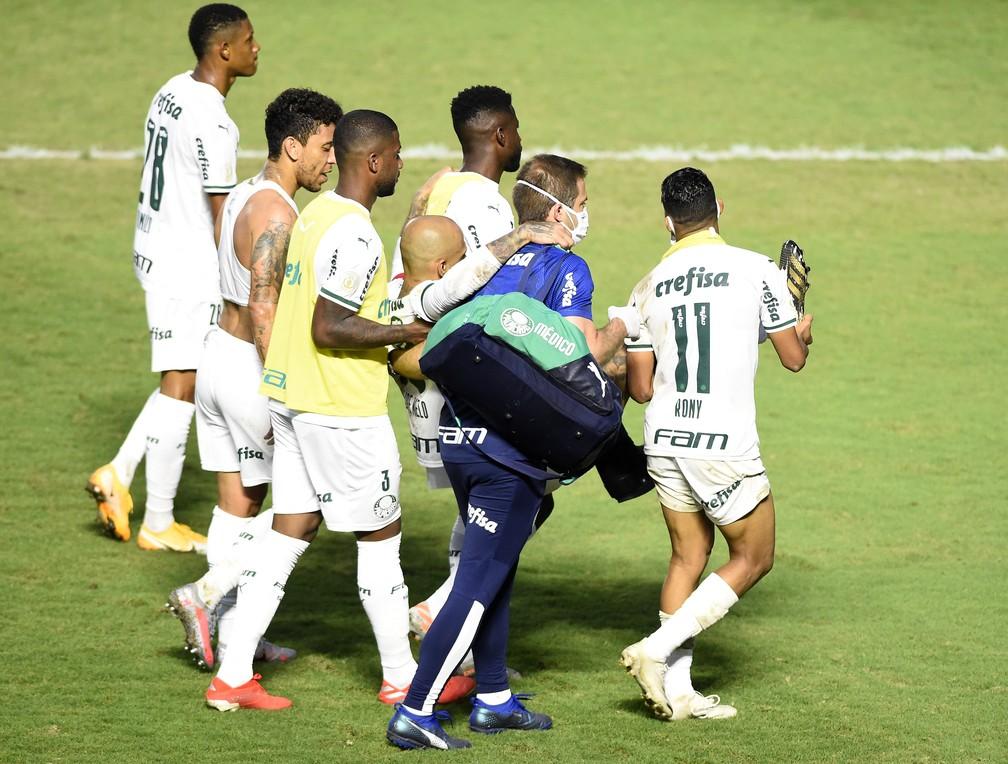 felipe melo - Felipe Melo tem fratura no tornozelo e desfalca o Palmeiras por até 4 meses