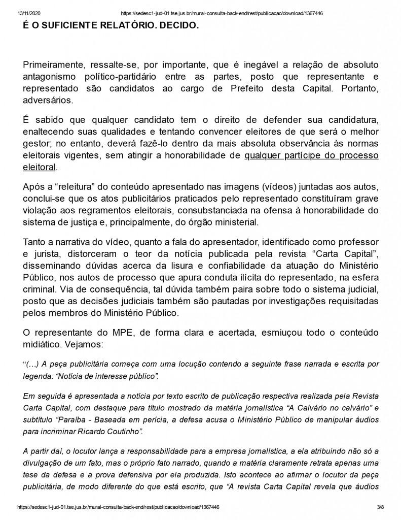 joao pessoa 3 1 - Justiça eleitoral determina que Ricardo Coutinho exclua propaganda com acusações de que Gaeco teria manipulado áudios de delações da Operação Calvário