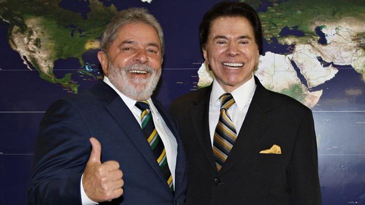 lula silviosantos bf78506b5ce4484545843faff0148db2a67cd5a5 - SBT FOI CONTRA CANDIDATURA: Silvio Santos presidente teria Lula, revela Marcondes Gadelha em livro