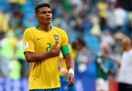 Pela 33ª vez na carreira, Thiago Silva será o capitão da seleção contra Venezuela