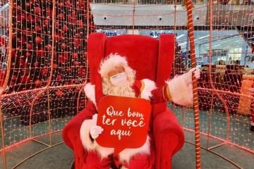 papai noel manaira shopping - Shoppings de João Pessoa contam com visitação ao Papai Noel mantendo o distanciamento físico