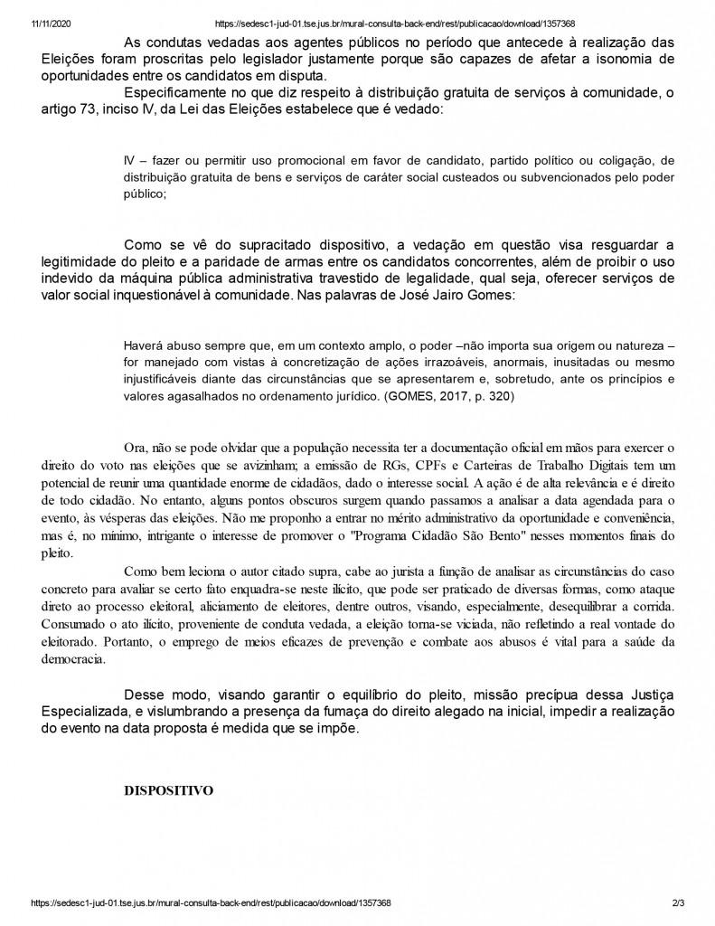 sao bento 2 1 - Candidato à prefeitura de São Bento tem ação social suspensa pela Justiça Eleitoral - ENTENDA