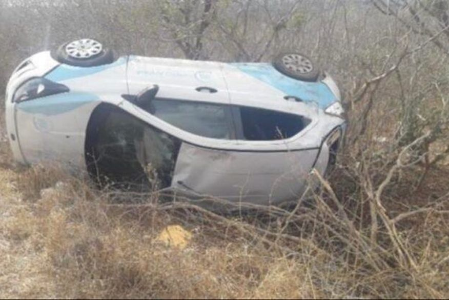 veiculo santo andre - TRAGÉDIA: Carro que transportava pacientes para hemodiálise capota em rodovia da Paraíba