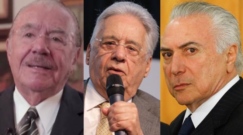BB1c2di4 - Sarney, FHC e Temer vão tomar vacina oferecida por João Doria