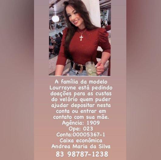 Capturar 34 - CASO LORRAYNE: família da modelo pede ajuda financeira para fazer velório