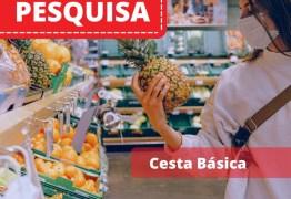 Pesquisa do Procon-PB aponta variação de 25,14% no preço de cestas básicas em supermercados de João Pessoa