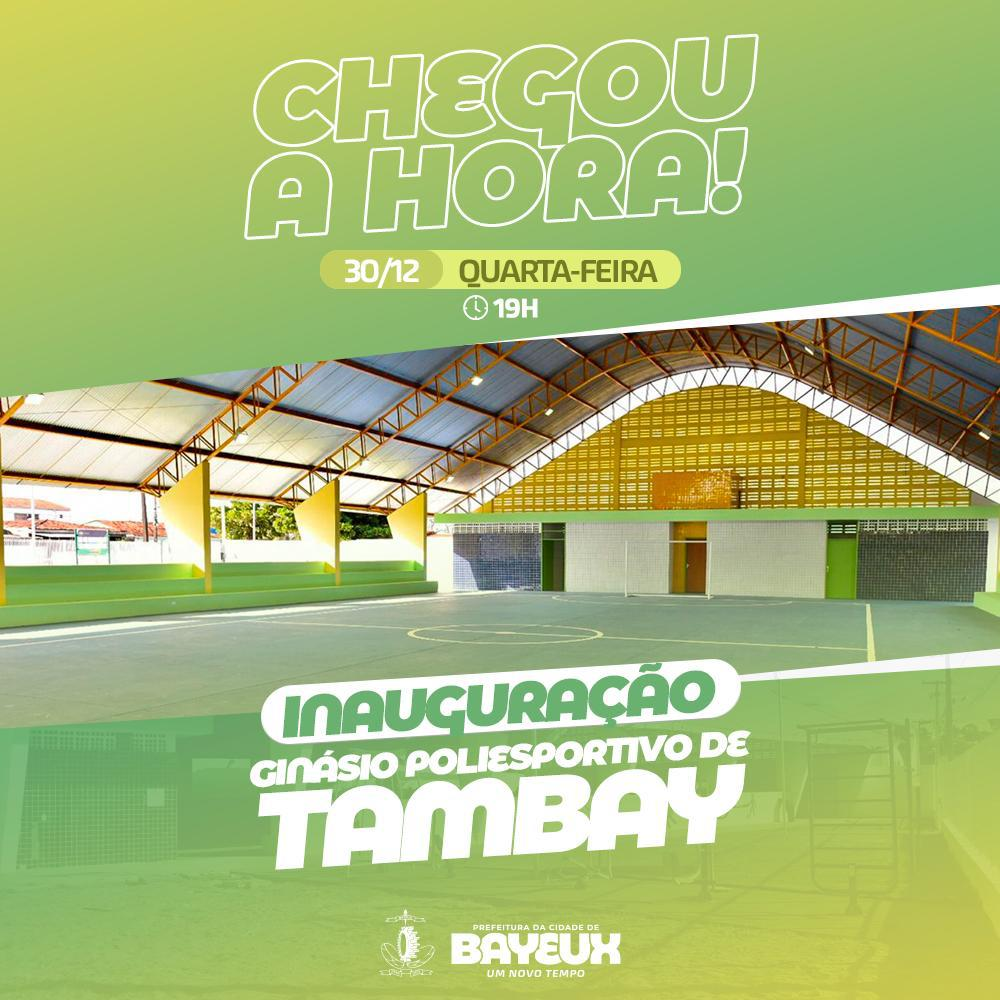 WhatsApp Image 2020 12 29 at 19.59.55 - Prefeitura de Bayeux entrega obra do Ginásio Poliesportivo de Tambay, nesta quarta-feira