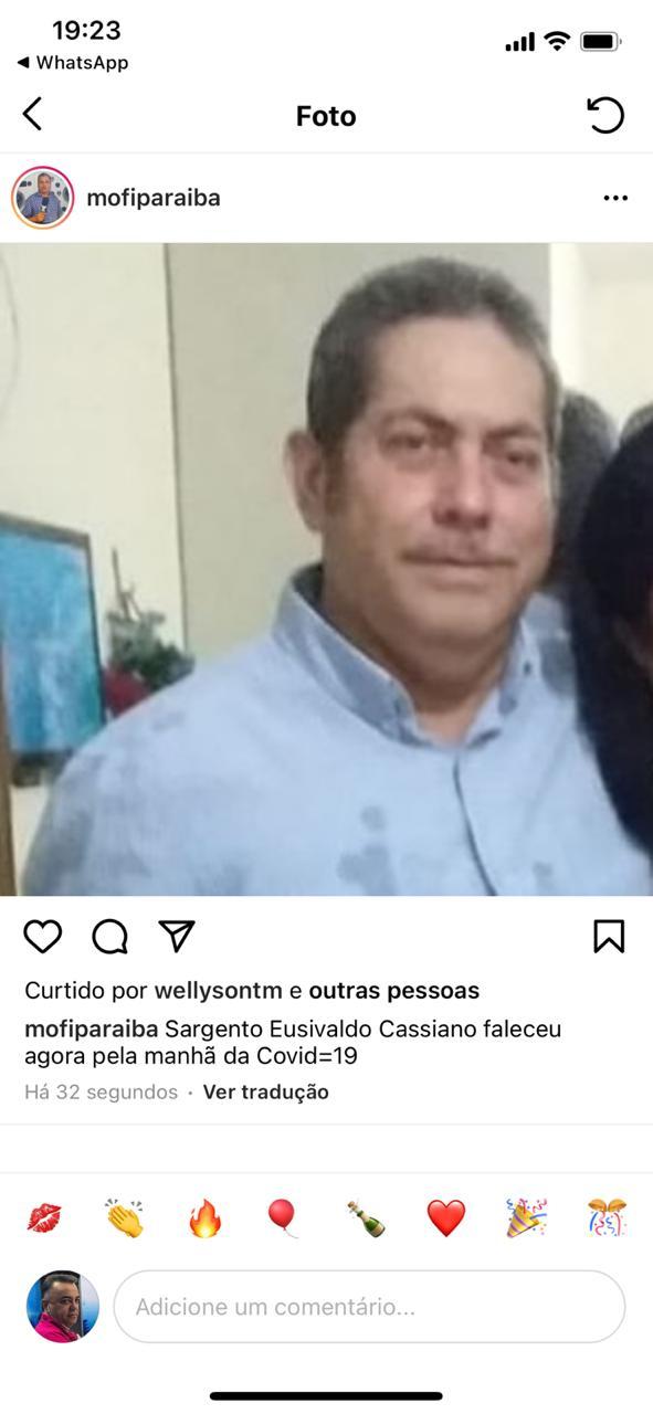 WhatsApp Image 2020 12 31 at 19.23.43 - Morre Sargento Eusivaldo Cassiano, vítima da covid-19