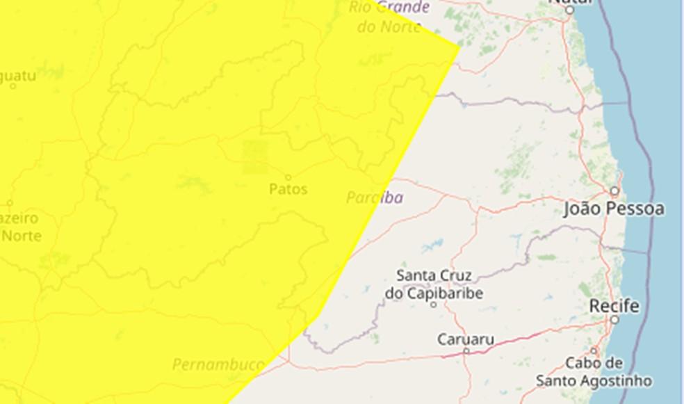 alerta 2 - Inmet emite alerta amarelo de baixa umidade para 111 municípios da paraibanos, saiba quais são