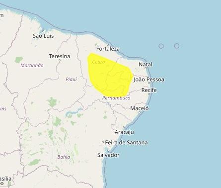 inmet - Mais de 100 cidades na Paraíba tem alerta de perigo potencial para baixa umidade, afirma Inmet