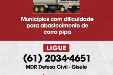 Famup garante canal entre prefeituras e Governo Federal para tratar de abastecimento de carro pipa