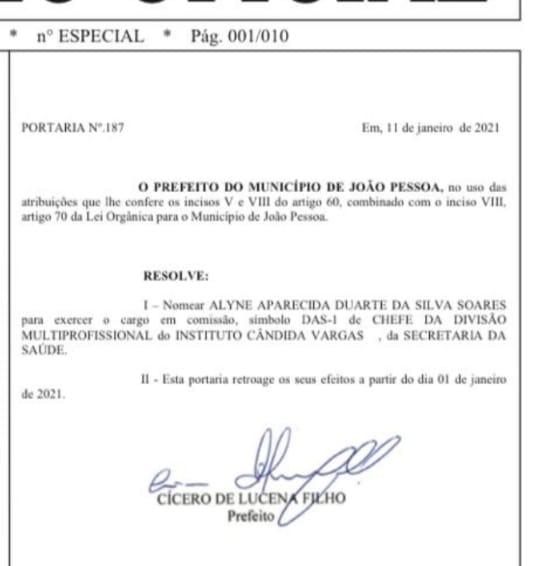 7b3d3c2d 6e4f 4dee b12b f3ca3b3edc2e - Prefeito Cícero Lucena nomeia esposa do advogado Flávio Moreira para cargo no Instituto Cândida Vargas