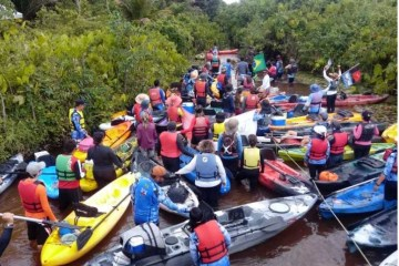Lucena realiza a 1ª Descida Caiaque do Rio Tapira com cerca de 80 participantes