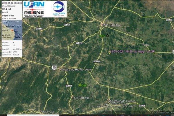 Tremores de terra no Rio Grande do Norte 600x400 1 - Municípios do Rio Grande do Norte registram tremores com magnitude de até 1.5