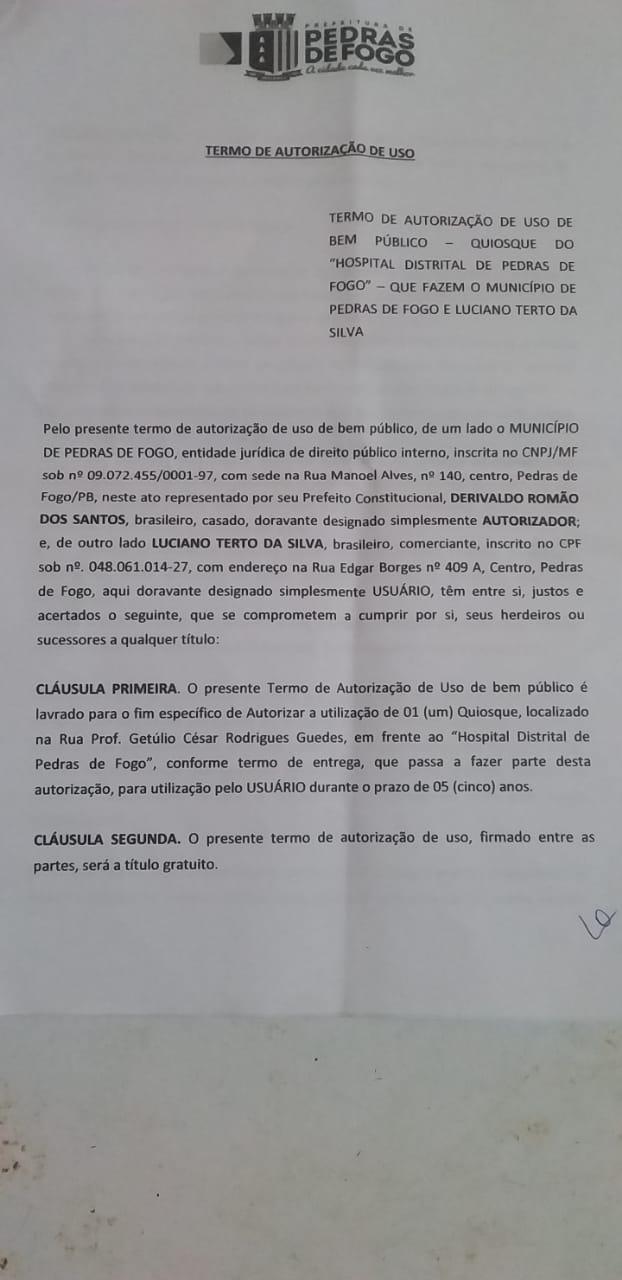 WhatsApp Image 2021 01 02 at 09.52.38 - Populares de Pedras de Fogo acusam prefeito Manoel Junior de mandar demolir quiosque durante feriado - VEJA VÍDEO