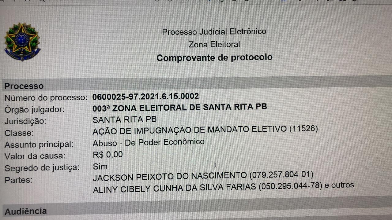 WhatsApp Image 2021 01 07 at 17.45.49 - Candidato do PDT, aciona a Justiça e pede impugnação de Aliny Povão por compra de votos em Cruz do Espírito Santo - VEJA VÍDEOS