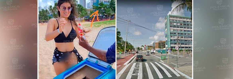 WhatsApp Image 2021 01 15 at 10.20.56 1 - Mulher que causou polêmica pelada em Recife, anda nua em transporte por aplicativo e em praias de João Pessoa; confira