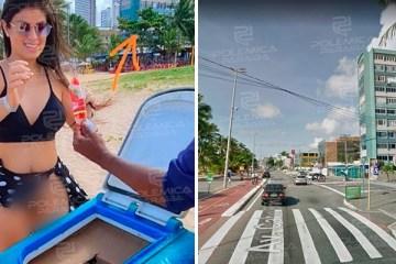 Mulher que causou polêmica pelada em Recife, anda nua em transporte por aplicativo e em praias de João Pessoa; confira