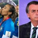 WhatsApp Image 2021 01 18 at 16.00.02 - Após Bolsonaro criticar futebol feminino jogadora Marta manda indireta para o presidente