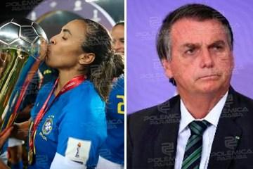 Após Bolsonaro criticar futebol feminino jogadora Marta manda indireta para o presidente