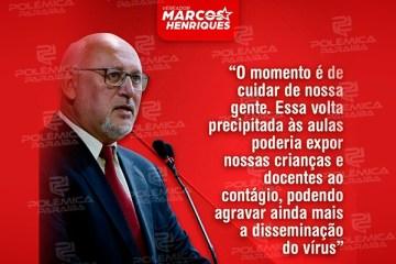 """WhatsApp Image 2021 01 18 at 16.37.00 - Vereador Marcos Henriques contesta medida de liberação das escolas privadas e pede cautela: """"Não podemos regredir"""""""