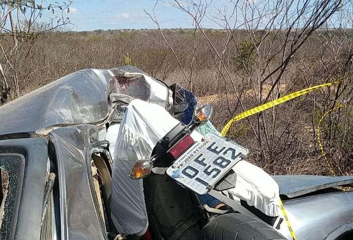 acidente 1 - Delegado da Polícia Civil Heriberto Paulino morre em acidente, em Juazeirinho