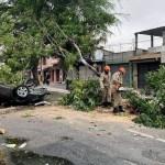 acidente cg - Motorista perde controle do carro, colide em árvore e capota veículo em Campina Grande