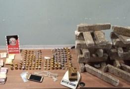Polícia militar prende homem, desarticula ponto de tráfico e apreende 26kg de drogas em CG