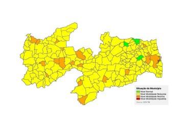 PLANO NOVO NORMAL: 200 cidades paraibanas estão classificadas como bandeira amarela – VEJA A SITUAÇÃO DE CADA UMA