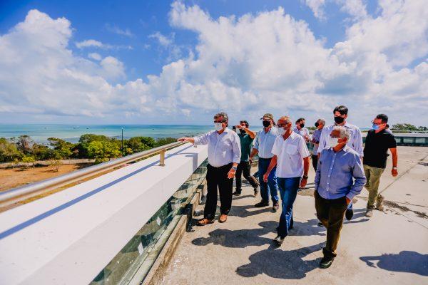 cicero joao estacao cabo branco - Cícero se reúne com João Azevêdo e anuncia obras de recuperação da Estação Cabo Branco