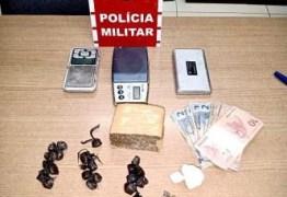 MACONHA, CRACK E COCAÍNA: PM prende três suspeitos com drogas, na região metropolitana de João Pessoa