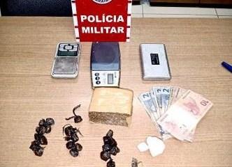 drogas apreendidas 334x445 1 e1610803172555 - MACONHA, CRACK E COCAÍNA: PM prende três suspeitos com drogas, na região metropolitana de João Pessoa