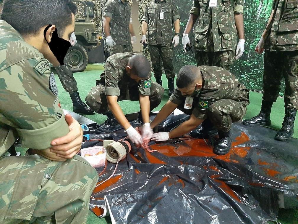 exercito 1 - Militares aparecem com máscaras desenhadas digitalmente em site de órgão do Exército - VEJA AS IMAGENS