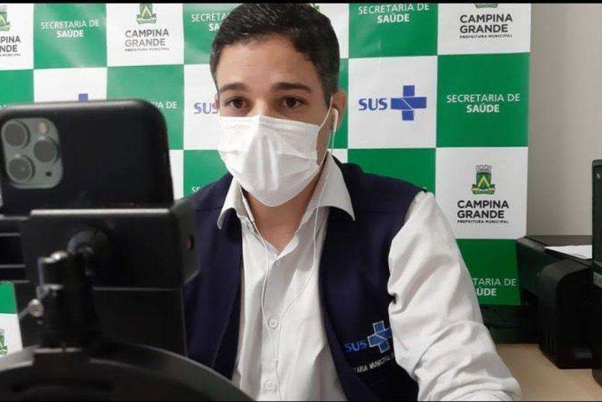 felipe reul secretario saude campina grande pb foto codecom cg - Secretaria de Saúde de Campina Grande rebate acusações de fura-filas da vacina e promete divulgar lista de vacinados