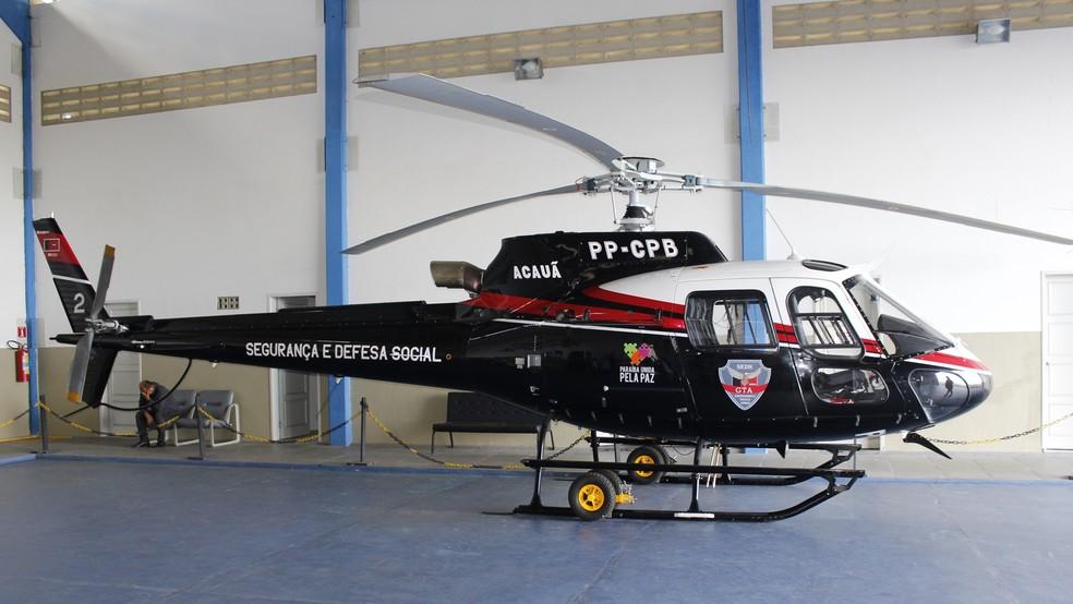 helicoptero pmpb - Governo Federal prorroga Força Nacional de Segurança Pública na Paraíba