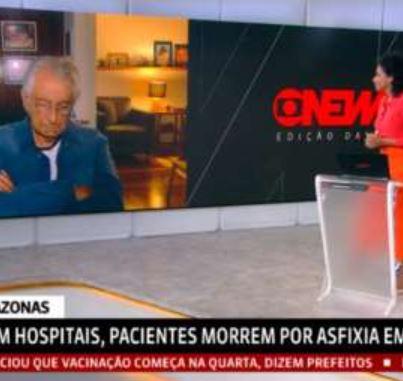 jorna - Jornalista Fernando Gabeira é flagrado dormindo durante programa ao vivo e repercute na web