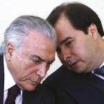 """maia e temer - Em capítulo inédito de livro, Eduardo Cunha culpa Temer, Maia e Baleia Rossi por impeachment de Dilma: """"Principais militantes"""""""