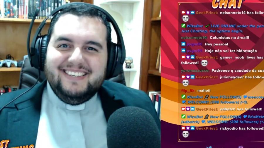 padre - Com ajuda de jogos e cultura pop, padre gamer evangeliza por meio de lives
