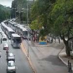 protesto - Motoristas de ônibus paralisam atividades e realizam protesto em João Pessoa