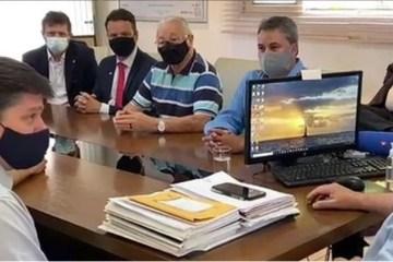 """reuniao baleia rossi - Durante reunião na PB, Baleia Rossi diz que """"não existe uma bandeira pelo impeachment"""" de Bolsonaro"""