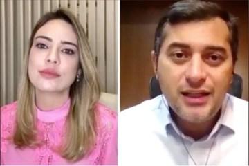 wilson e sheherazade - SAÚDE EM COLAPSO: Governador do Amazonas poupa Bolsonaro e põe a culpa na população e nas empresas - VEJA VÍDEO