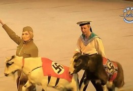 Rússia investiga circo que exibe macaco nazista e cabras com suásticas