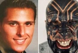 Homem gasta R$ 550 mil para tatuar todo o corpo, incluindo a genitália