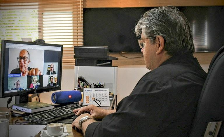 3de9e16c 56c9 44ed b125 bd22f0bf3e24 1 - João Azevêdo se reúne com CBF e cria comissão para discutir parceria no campeonato paraibano