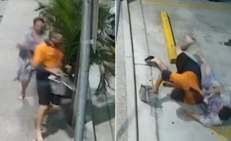 Capturar 43 - Após ser roubada, idosa persegue e derruba ladrão com 'golpe ninja' - VEJA VÍDEO